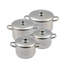 Набор посуды Лотос Традиция 8 предметов металлическая крышка