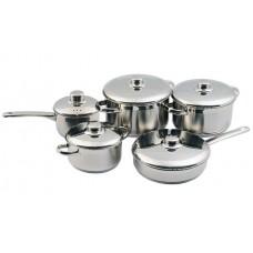 Набор посуды Лотос Традиция 10 предметов металлическая крышка