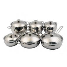 Набор посуды Магнолия Престиж 10 предметов металлическая крышка