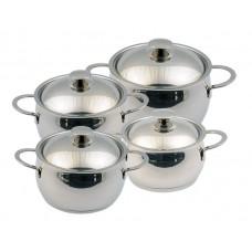 Набор посуды Магнолия Престиж 8 предметов металлическая крышка