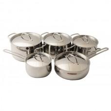 Набор посуды Орхидея Классика 10 предметов металлическая крышка