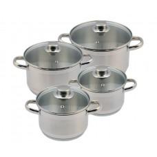 Набор посуды Лотос Традиция 8 предметов стеклянная крышка