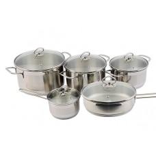 Набор посуды Лотос Классика 10 предметов стеклянная крышка