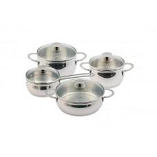 Набор посуды Магнолия Классика 8 предметов стеклянная крышка