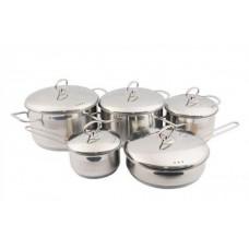 Набор посуды Лотос Классика 10 предметов металлическая крышка