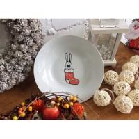 Тарелка Рождественский кролик Faien 20 см