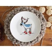 Тарелка Северный олень Sans Brides 20,5 см