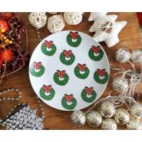 Тарелка Рождественский венок Sans Brides 20,5 см